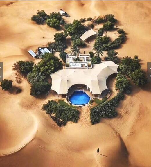 """世界最""""豪""""酒店之一:建在沙漠中心 娱乐设施很奇特"""